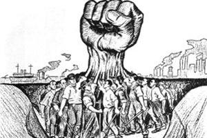 अपने हक़ को लेकर मजदुर संगठनो ने किया प्रदर्शन