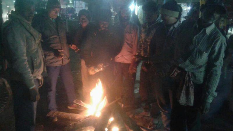 जहानाबाद में नगर परिषद के द्वारा किया गया अलाव की  व्यवस्था