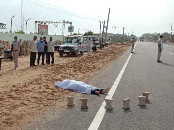 जहानाबाद: काको में सड़क के किनारे मिला अज्ञात युवक का शव